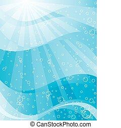 subacqueo, luce sole
