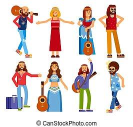subculture, uomini, amore, hippie, pace, carattere, isolato, donne