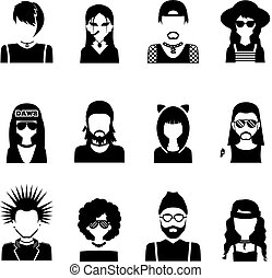 Subcultures People Black And White