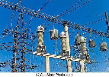 subestación, de alto voltaje