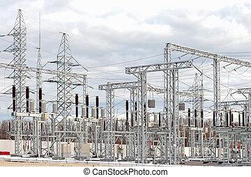 subestación, energía eléctrica