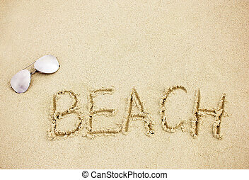 subglasses, areia praia, palavra