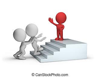 subir, a, escadas