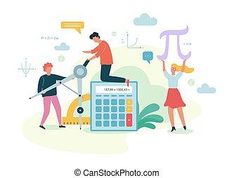 subject., mathématiques, idée, apprentissage, école, math, education