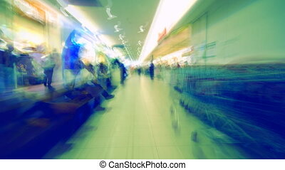 subjective shopping center time lapse