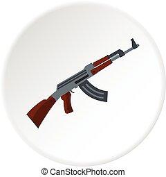 Submachine gun icon circle