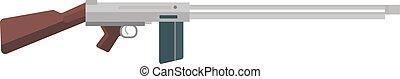Submachine gun icon kalashnikov or AK-47 color silhouette...