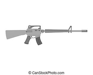 Submachine gun weapon semiautomatic handgun pistol gun...