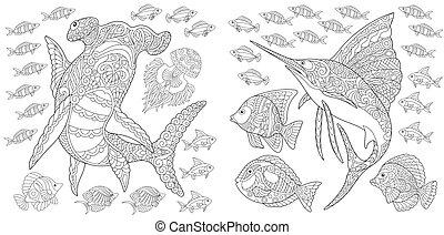 submarinas, animais, cobrança