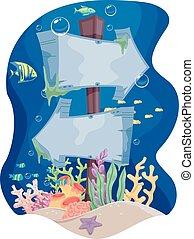 submarinas, direção, signage
