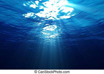 submarinas, raios, luz