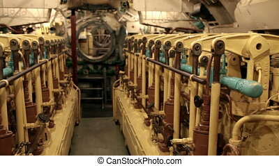 submarine engine room - submarine inside engine room camera...