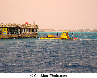 Submarine in the Red Sea in Egypt