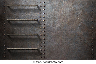 submarine metal side background with stairs - submarine or ...