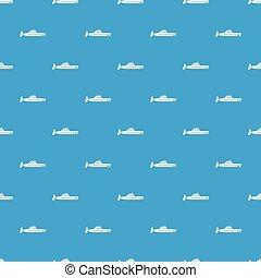Submarine pattern seamless blue