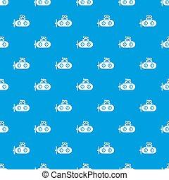 Submarine periscope pattern seamless blue