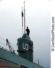 portrait of submarine in heavy weather