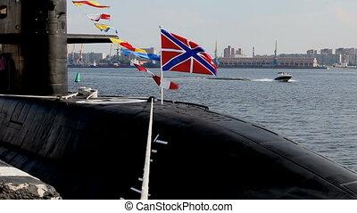 Submarine - Russian submarine in the harbor