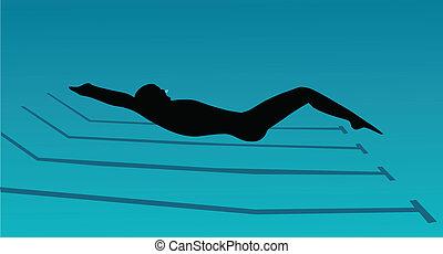 submarine swimming