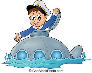 Submarine with sailor theme image 1
