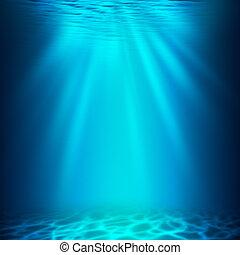 submarino, abyss., resumen, fondos, diseño, su
