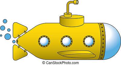 submarino, amarela