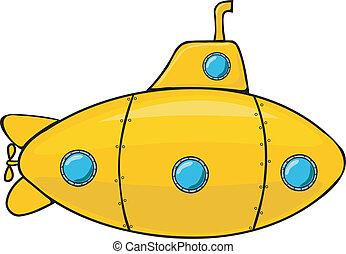 submarino, amarillo