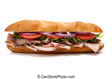 submarino, branca, sanduíche, fundo