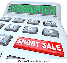 submarino, cortocircuito, venta, palabras, en, calculadora