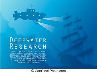 submarino, fondo velado, submarino