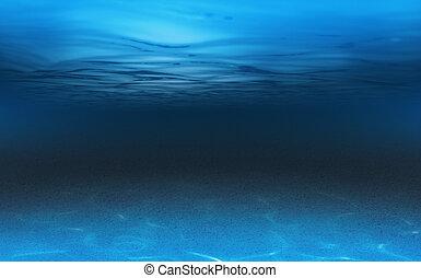 submarino, mar, o, plano de fondo, océano