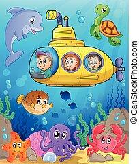 submarino, tema, imagen, 4