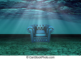 Submerged Chair in Submerged Desert  Floats