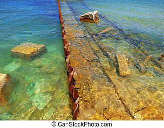 Submerged Ruins of an old Pier