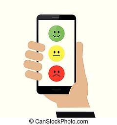 submeta, avaliação, via, a, smartphone