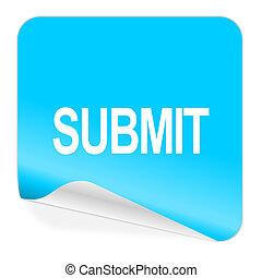 submit blue sticker icon