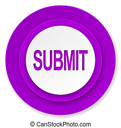 submit icon, violet button