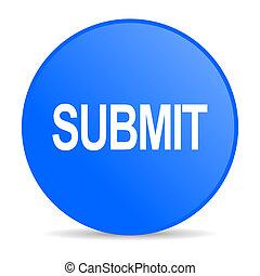 submit internet blue icon
