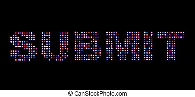 Submit led text
