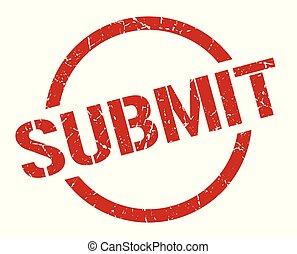 submit red round stamp