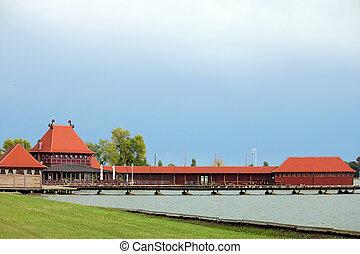 subotica, palic, 塞尔维亚, 湖, 风景