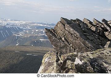 Ural mountains - Subpolar Ural mountains, view from mountain...