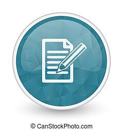 Subscribe brillant crystal design round blue web icon.