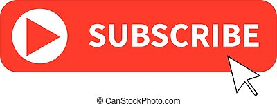 subscribe button icon on white background. flat style. subscribe icon for your web site design, logo, app, UI. subscribe symbol.