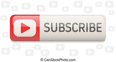 Subscribe button rounded fellow banner isolated on white background. Vector illustration.