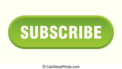 subscribe button. subscribe rounded green sign. subscribe