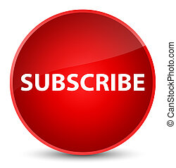 Subscribe elegant red round button