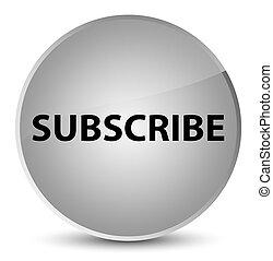 Subscribe elegant white round button