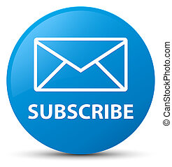 Subscribe (email icon) cyan blue round button