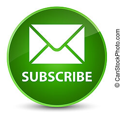 Subscribe (email icon) elegant green round button